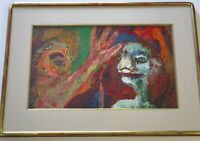 TIM HARNEY PAINTING PORTRAIT  URBAN MODERNISM EXPRESSIONIST VINTAGE ABSTRACT ART