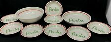 New listing 10 Pc Ceraminter Made In Italy Pasta Set