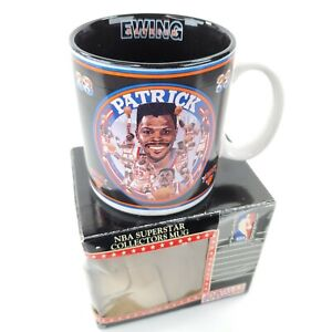 Vintage Patrick Ewing NBA Superstar Collectors Mug Sports Impressions New in Box
