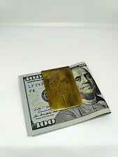 Brass skull Money Clip Steampunk Money Clip Gothic Vintage