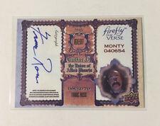 Upper Deck 2015 Firefly autograph Franc Ross as Monty, FR, Mint