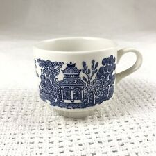 Churchill England Blue & White Classic Willow Asian Artwork Mug Tea Cup