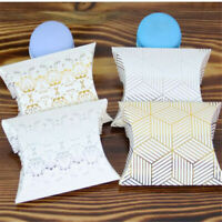 50PCS Cute Paper Pillow  Box Wedding Party Favour Gift Candy Boxes Holder