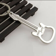 1 X Hot Guitar Bottle Opener Ring Keyring Chain Metal Bar Wine Beer Cap Tool Se
