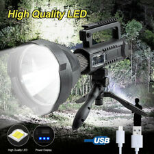 P50 LED Work Lights Spotlight USB Recharge Flashlight 200000LM Searchlight Lamp