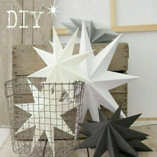 2X Large 3D Paper Star Wedding Party Hanging Bedroom Home Decor Decoration Craft
