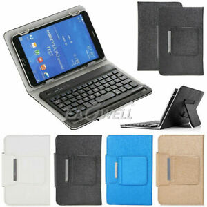 "For Onn 10.1"" inch Pro Android Tablet Leather Case +Detachable Wireless Keyboard"