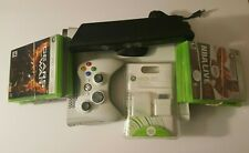 Xbox 360 Slim White Console Bundle Controller Cables HDD 5 Video Games Microsoft