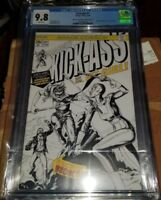 KICK-ASS #1 CGC 9.8 ROOTH HOMAGE B&W VARIANT INCREDIBLE HULK #181 WOLVERINE