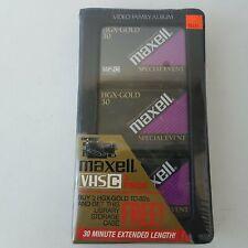 Maxell HGX-Gold TC-30 Videocassettes VHSC 3-Pack