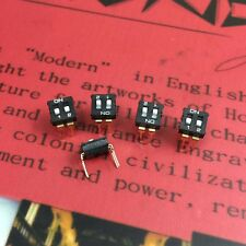 2.54mm Pitch 2 Position IC Type DIP Switch Black 5Pcs