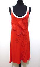 JC DE CASTELBAJAC PARIS Abito Vestito Donna Cotton Rayon Woman Dress Sz.S - 42