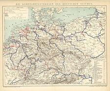 Karten zur Geschichte Polens u des westlichen Russlands Alte Landkarte 1896 M5