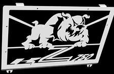 "cache / Grille de radiateur  inox poli Kawasaki Z750 04>06 design ""Bulldog"""
