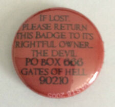 DEVAST8 1-inch BADGE Button Pin Return to owner the Devil NEW OFFICIAL MERCH