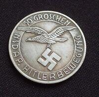 NSDAP SS KANTINEGELD GERMAN COLLECTORS COINS 50 GROSCHEN WW2 HITLERBEWEGUNG
