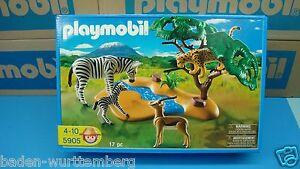 Playmobil 5905 safari forest Animal cheetah zebra gazelle river Zoo wild