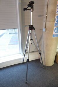 Large MANFROTTO 058 TRIPOD & 229 3-Way HEAD solid secure stable Large/Med Format