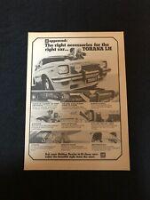 Torana 6 Holden Cool Accessories Original Print Advertising.