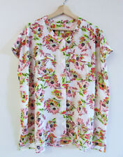 Capture Ezibuy Size 16 NWT Floral Pocket Shirt Sleeveless Button Down Collarless