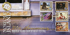 Norfolk Island 2013 FDC Country Music Festival 20th 5v Set Cover Guitar Stamps