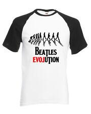 T Shirt Maglietta Beatles Evolution Bianca e Nera Personalizzata da Uomo Donna