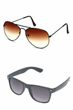 Combo of Brown Aviator Sunglasses and Black Premium(Pack of 2) Free Shipping
