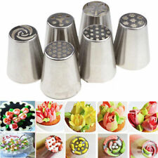 6pcs Russian Tulip Icing Piping Nozzles Stainless Tips Cake Decorating Tool DIY
