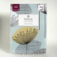SANDERSON - DANDELION CLOCKS - DUCK EGG - DOUBLE SIZE DUVET COVER SET - RRP £120