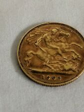 More details for 22ct.gold half sovereign 1902   good condition antique