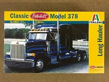 ITALERI 1/24 PETERBILT 378 LONG HAULER TRUCK MODEL KIT # 3857  FACTORY SEALED