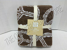 Pottery Barn Teen Peace Out Recycled Throw Blanket Cover Coffee 50x60 Reversible