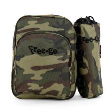 Zaino termico con Porta-bottiglia in tessuto Militare - borsa frigo cm 37x38x10
