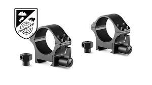 HAWKE 23105 Profi Stahl Ringmontagen Weaver niedrig 30mm Höhe 44mm Schnellspann