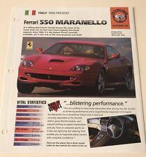 Ferrari 550 Maranello Brochure Leaflet 4 Page Heavy Paper. Nice 👍🏻