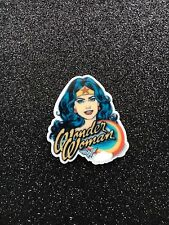 5pc. Wonder Woman planar resin, flatback, cabochon, bow center, scrappbooking,