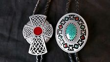 Lot of 2 Bolo Ties- Western & Native American Style (Please Read Description)