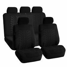 Car Seat Covers For Sedan SUV Truck Set Zipper Split Bench Solid Black