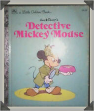"A LITTLE GOLDEN BOOK WALT DISNEY'S ""DETECTIVE MICKEY MOUSE""- 1985"