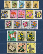 Rhodesia sg 489-508 used 1974-6 set of 20 Wild Animals-Flowers-Buterflies