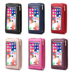 Women Crossbody Phone Holder Wallet Touch Screen Bag RFID Blocking Case Purse