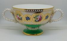 Antique 1868 Cauldon Brown-Westhead & Moore Hand Painted Gilded Two Handle Cup