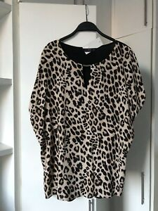 BNWT F & F Women's Leopard Print Top Size 20