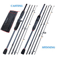 Portable Carbon Fiber Spinning Rod Fishing Rod Lure Tackle Spinning Casting Rod