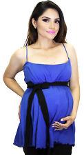 Royal Blue Maternity Sleeveless Ribbon Belt Black Pregnancy Solid Sexy Wear
