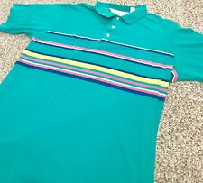 Vintage 90s Arnold Palmer Men's Size L Short Sleeve Striped Golf Polo Shirt Top