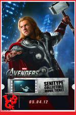 THOR AVENGERS SENITYPE Movie Ticket Pellicule Film 2000ex Collector # NEUF #