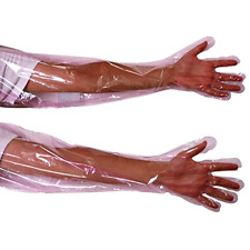 Muduoban 50 Pack Disposable Artificial Insemination Gloves 35 Inch Long Term Kit