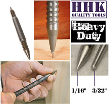 """Automatic Spring Loaded Self Striking Centre Punch DOUBLE ENDS 3/32"""" & 1/16"""" HHK"""