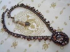 brown crystal / antique bronze Konplott Chain / Necklace Las Vegas